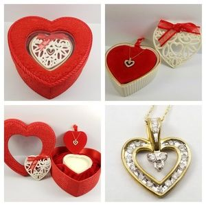 "Jewelry - Diamond Heart Pendant w/16"" Chain 10k Gold"